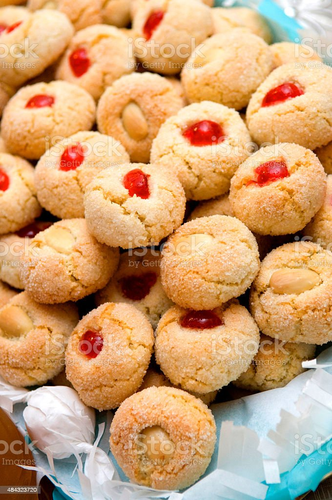 Amaretti biscuits stock photo