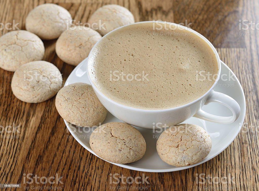 Amaretti cookies royalty-free stock photo