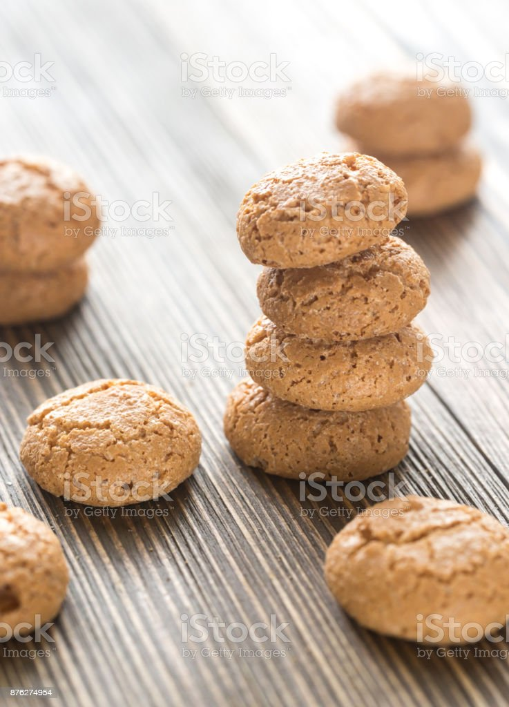 Amaretti cookies stock photo