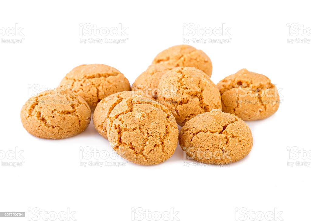 Amaretti cookies traditional Italian biscuits stock photo
