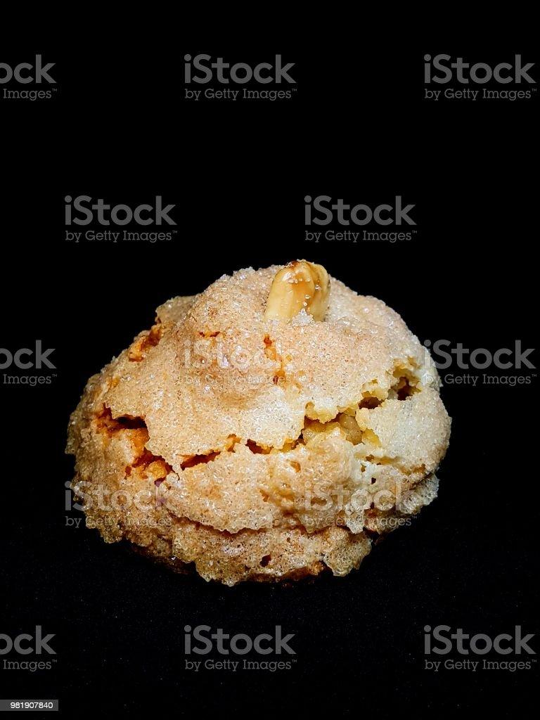 Amaretto sardo close up delicious Italian almond cookies typical of Sardinia stock photo