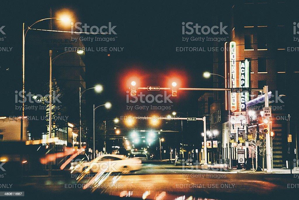 Amarillo by night. stock photo