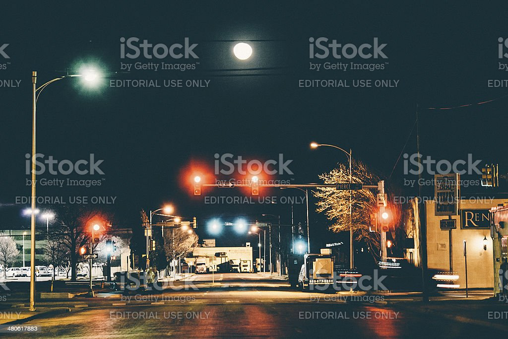 Amarillo by night. stock photo