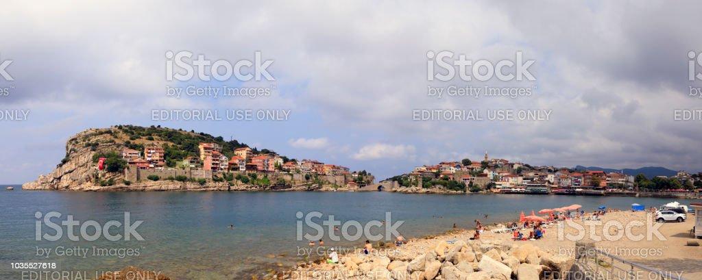 Amasra Bay - Old Town ve Castl stok fotoğrafı