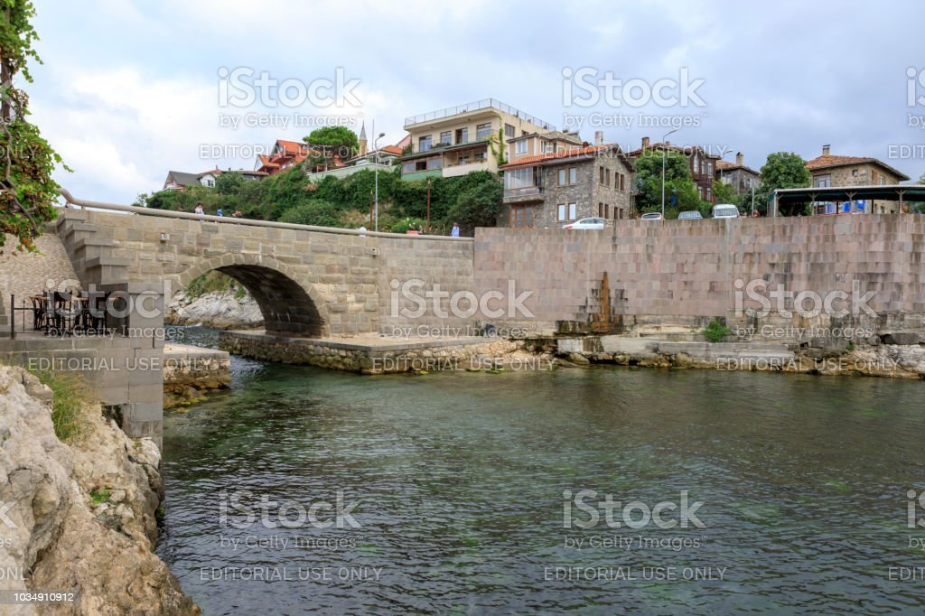 Amasra Kalesi - Amasra Old Town - Amasra Bay stok fotoğrafı