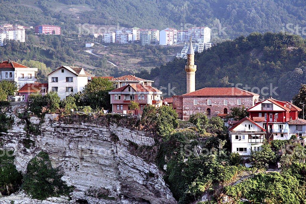 Amasra houses on hillside stok fotoğrafı