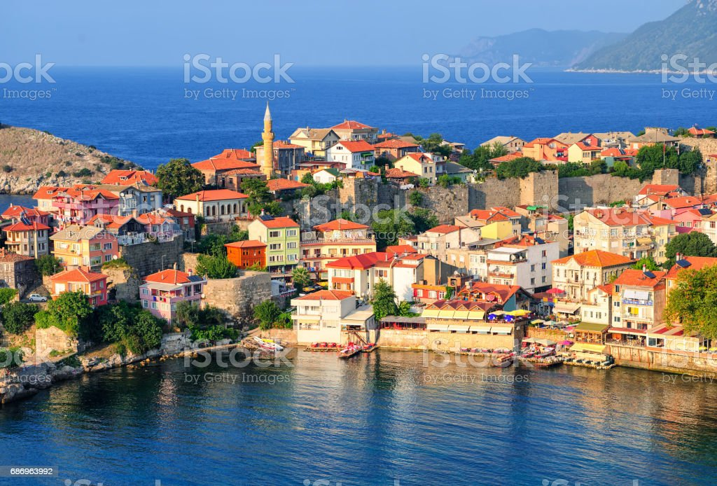 Amasra resort town, Black Sea Coast, Turkey stok fotoğrafı