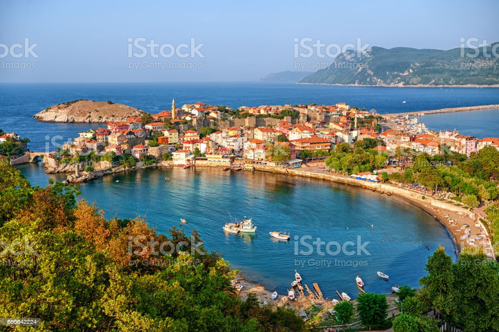 Amasra town on the Black sea coast, Turkey royalty-free stock photo