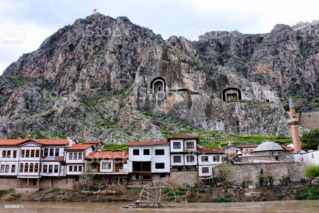 Amasya - Royalty-free Aerial View Stock Photo