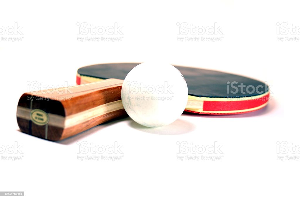 Amateur Ball and Ping-Pong Paddle royalty-free stock photo
