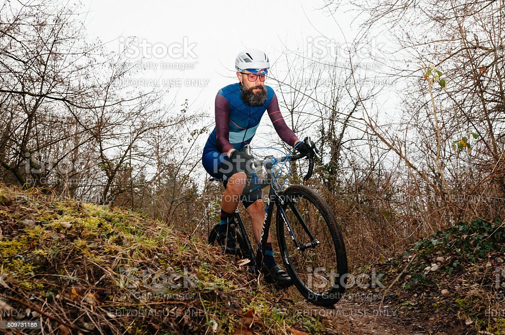 Amateur Cyclo-Cross Race stock photo