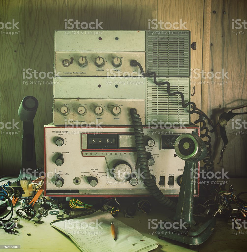 Amateur Radio Broadcasting stock photo