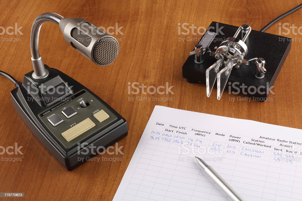 Amateur radio desktop stock photo