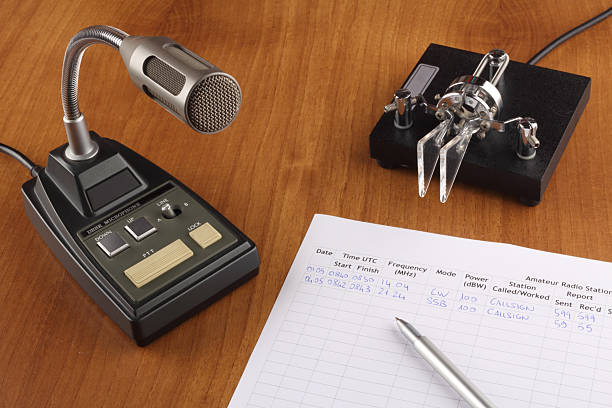 amateur radio desktop - ham radio stock photos and pictures