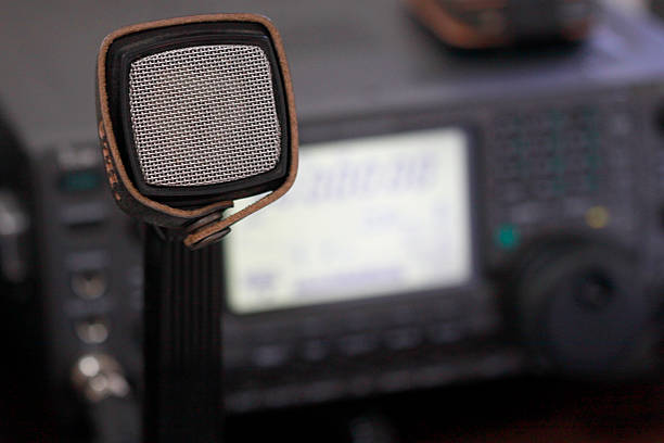 amateur radio station: closeup of an a radio transceiver - ham radio stock photos and pictures