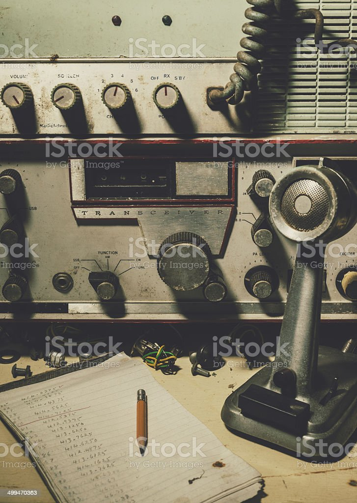 Amateur Radio Station stock photo