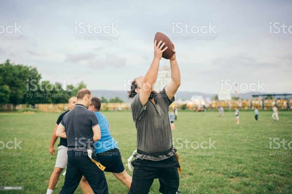 Amateurs Playing American Football Royalty Free Stock Photo