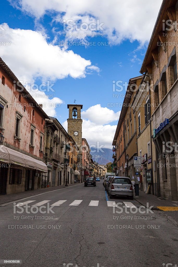Amatrice, a town in the province of Rieti, in Italy stock photo