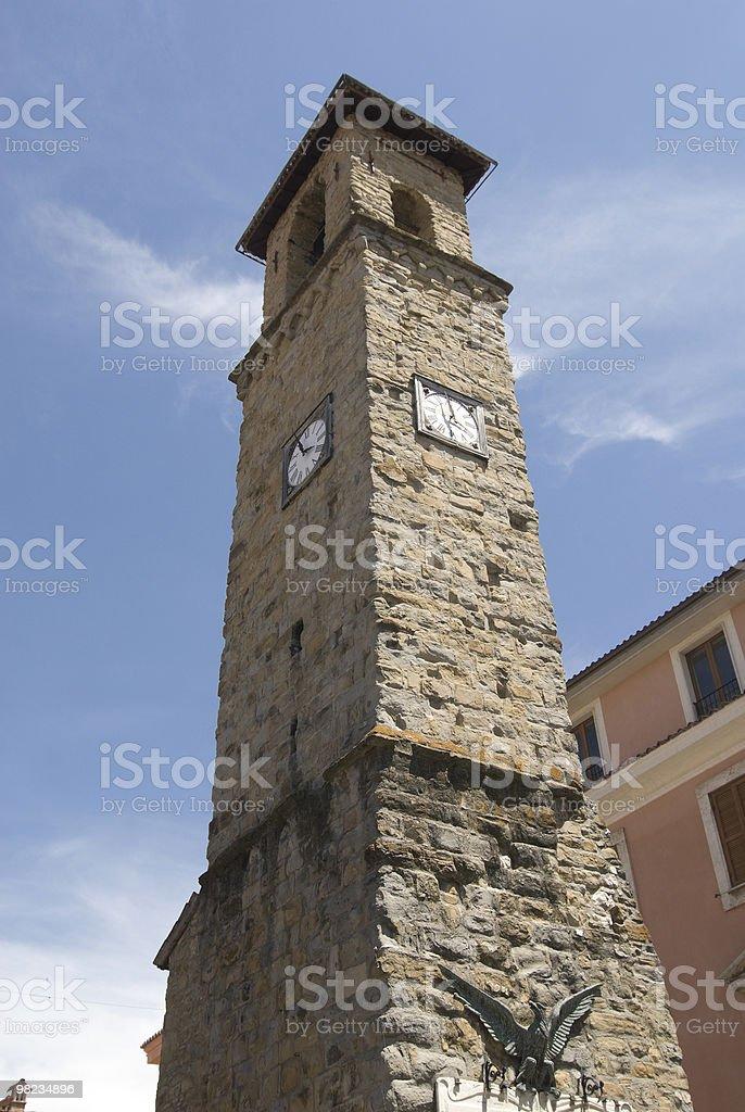 Amatrice (Lazio, Italy), ancient tower stock photo