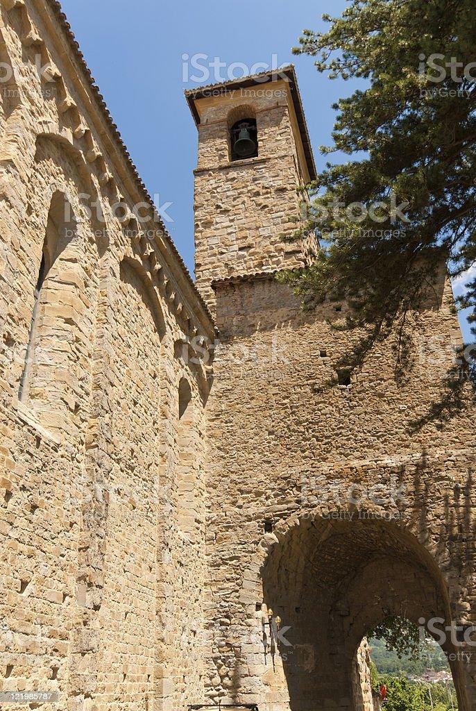 Amatrice (Lazio, Italy): Cathedral belfry stock photo