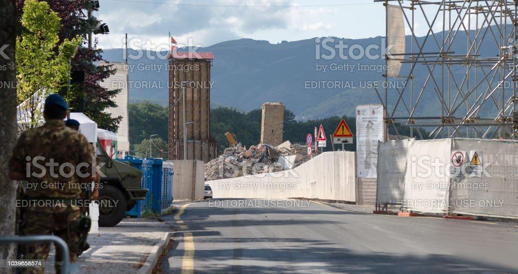 Amatrice - Italy, off limitz zone stock photo
