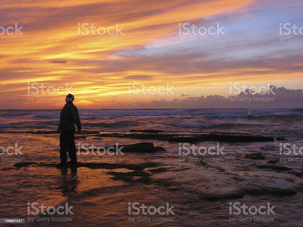 Amazed by sunset royalty-free stock photo