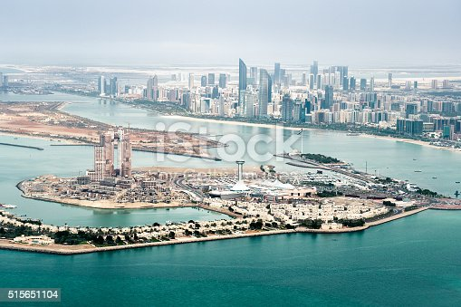 517465184 istock photo Amazing Abu Dhabi viewed from the air 515651104