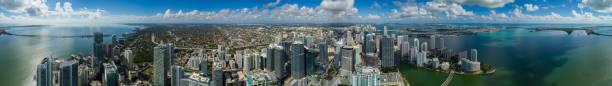 Amazing aerial Brickell Miami Florida large scale stock photo