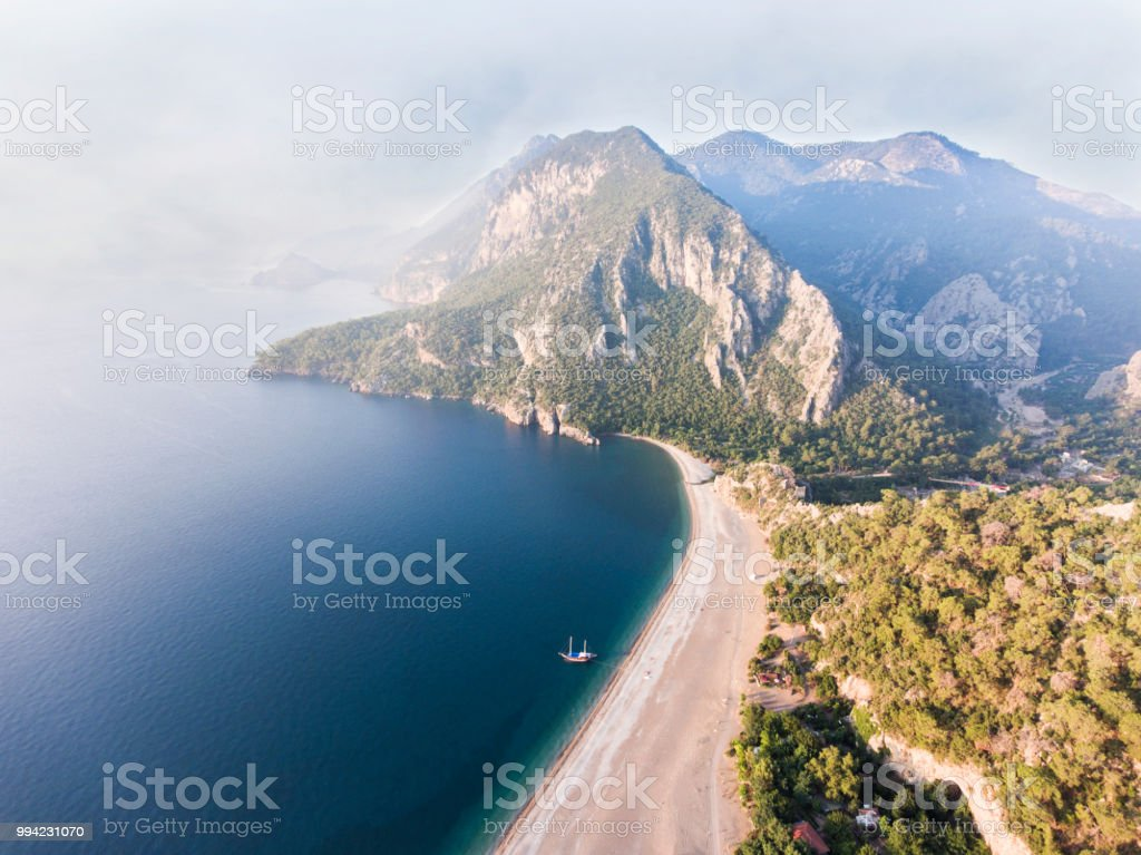 Amazing aerial view of Olympos in Antalya stock photo