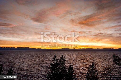 511675552istockphoto Amazing autumn sunset in Lake Tahoe, Nevada-USA 1075192866