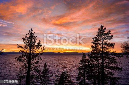 511675552istockphoto Amazing autumn sunset in Lake Tahoe, Nevada-USA 1075192878