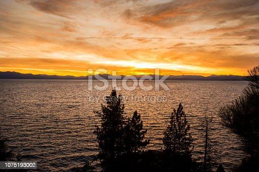 511675552istockphoto Amazing autumn sunset in Lake Tahoe, Nevada-USA 1075193002