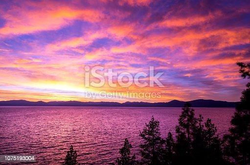 511675552istockphoto Amazing autumn sunset in Lake Tahoe, Nevada-USA 1075193004