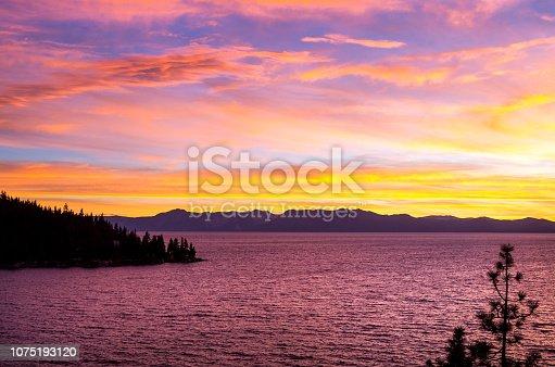 511675552 istock photo Amazing autumn sunset in Lake Tahoe, Nevada-USA 1075193120