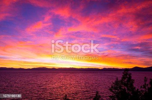 511675552istockphoto Amazing autumn sunset in Lake Tahoe, Nevada-USA 1075193130