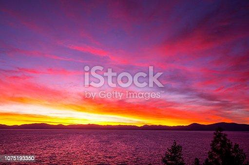 511675552istockphoto Amazing autumn sunset in Lake Tahoe, Nevada-USA 1075193350