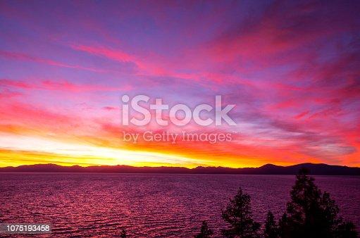 511675552istockphoto Amazing autumn sunset in Lake Tahoe, Nevada-USA 1075193458
