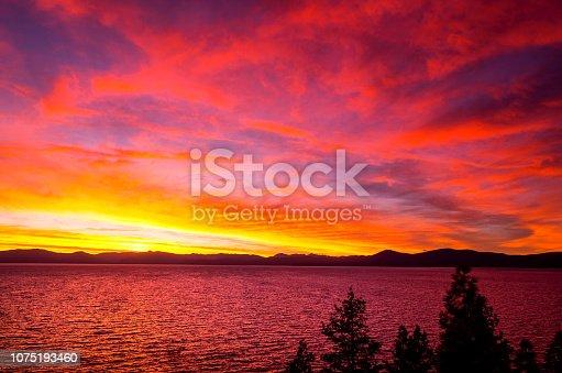 511675552istockphoto Amazing autumn sunset in Lake Tahoe, Nevada-USA 1075193460