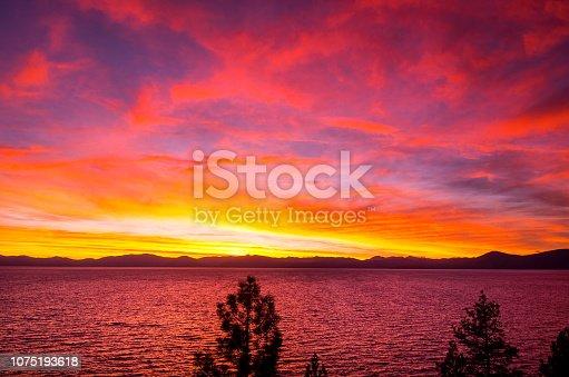 511675552istockphoto Amazing autumn sunset in Lake Tahoe, Nevada-USA 1075193618
