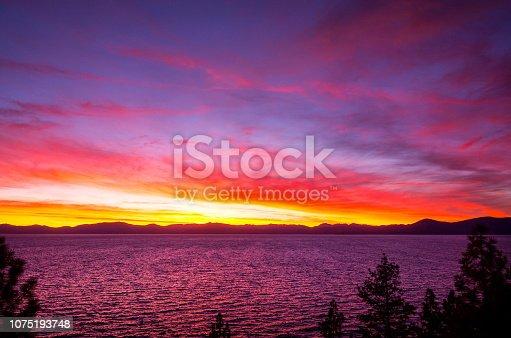 511675552istockphoto Amazing autumn sunset in Lake Tahoe, Nevada-USA 1075193748
