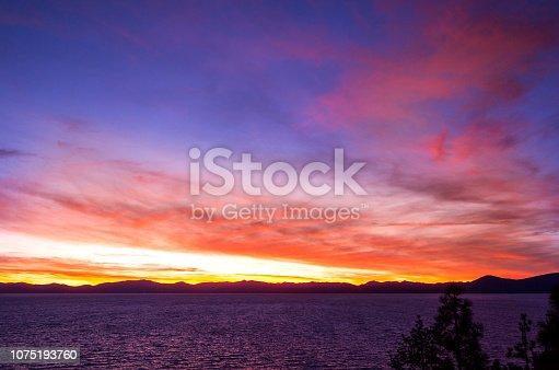511675552istockphoto Amazing autumn sunset in Lake Tahoe, Nevada-USA 1075193760