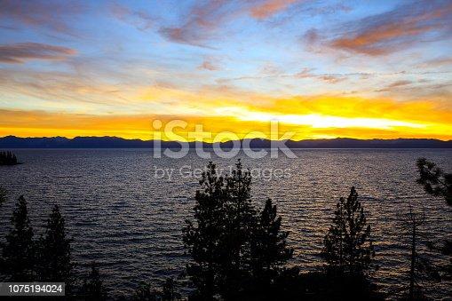 511675552istockphoto Amazing autumn sunset in Lake Tahoe, Nevada-USA 1075194024