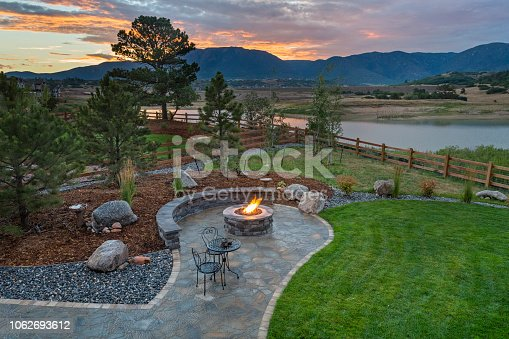 Amazing Backyard with Fire Pit