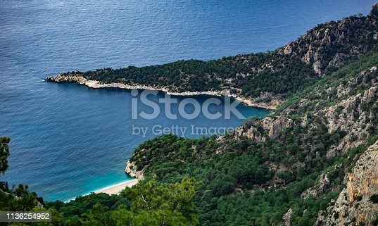 istock Amazing bay from Marmaris, Mugla, Turkey. Lycian way. Summer and holiday concept. 1136254952