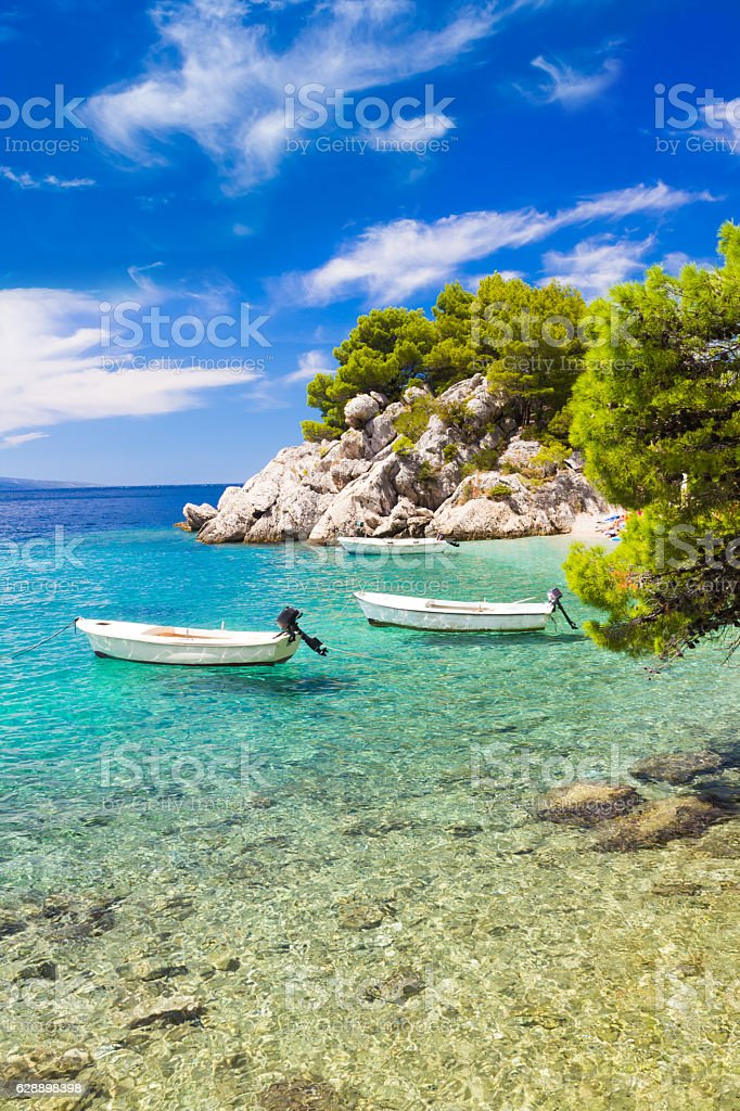 Amazing beach in Brela stock photo