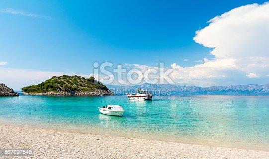 istock Amazing beach in Peljesac peninsula, Dalmatia, Croatia 867697548