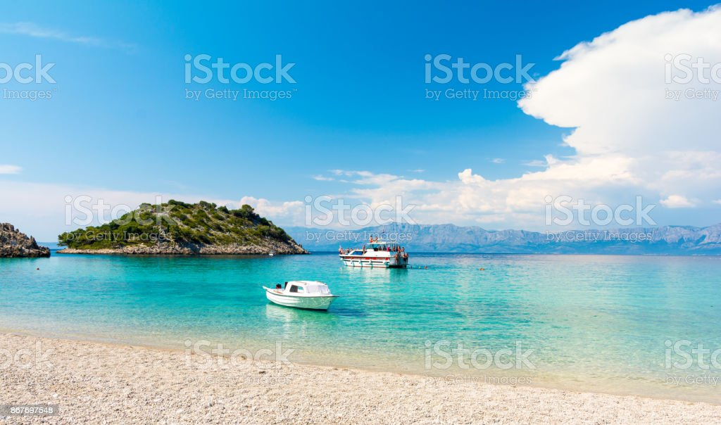 Amazing beach in Peljesac peninsula, Dalmatia, Croatia stock photo