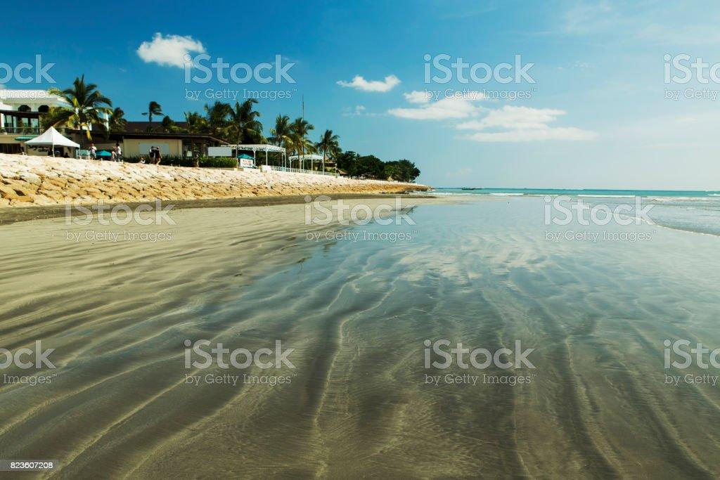 Amazing beach Kuta in Indonesia stock photo