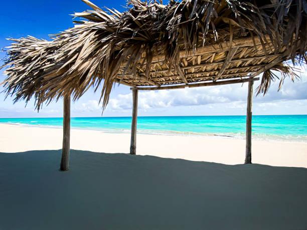 amazing beach of Cuba, Santa Clara, caribbean island stock photo
