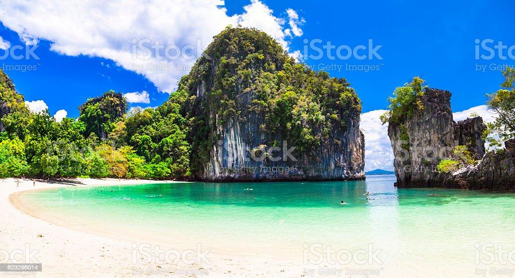 amazing beaches of Thailnad, Krabi province stock photo